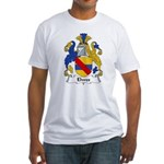 Elwes Family Crest  Fitted T-Shirt