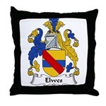 Elwes Family Crest  Throw Pillow