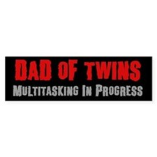 Dad of Twins - Bumper Bumper Sticker