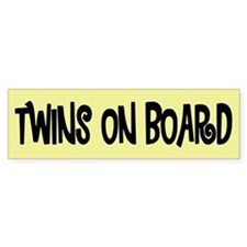 Twins on Board - Bumper Bumper Sticker