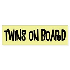 Twins on Board - Bumper Car Sticker