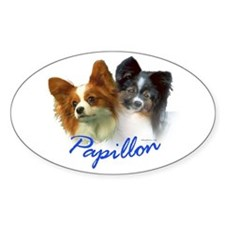 papillon-1 Oval Decal