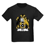 Ellis Family Crest Kids Dark T-Shirt