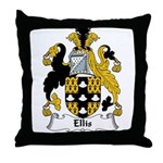 Ellis Family Crest Throw Pillow