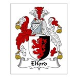 Elford Family Crest Small Poster