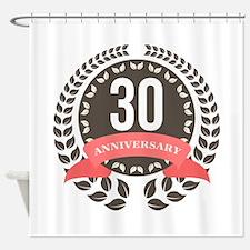 30 Years Anniversary Laurel Badge Shower Curtain