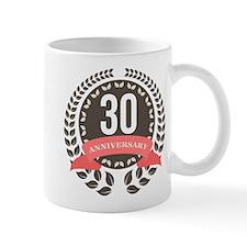 30 Years Anniversary Laurel Badge Mug