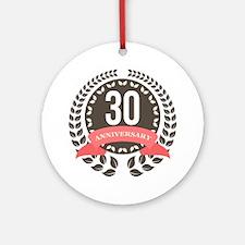 30 Years Anniversary Laurel Badge Ornament (Round)