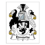 Edwards Family Crest Small Poster