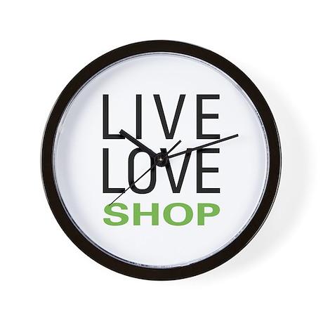 Live Love Shop Wall Clock