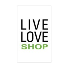Live Love Shop Rectangle Decal