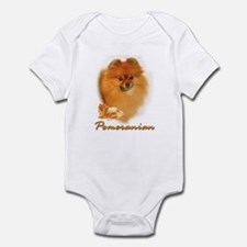 pomeranian-1 Infant Bodysuit