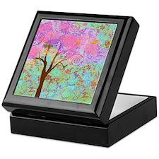 Whimsical Pink Tree Keepsake Box