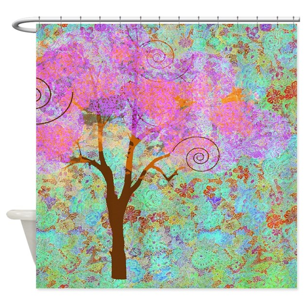 Whimsical Pink Tree Shower Curtain By Listing Store 113075623