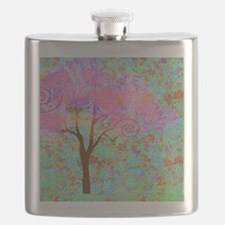 Whimsical Pink Tree Flask