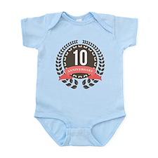 10 Years Anniversary Laurel Badge Infant Bodysuit