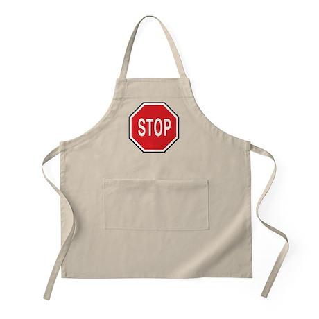 Stop Symbol BBQ Apron