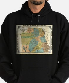 Vintage Map of San Francisco (1890) Hoodie (dark)