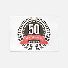 50 Years Anniversary Laurel Badge 5'x7'Area Rug