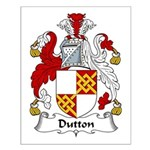 Dutton Family Crest Small Poster