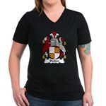 Dutton Family Crest Women's V-Neck Dark T-Shirt