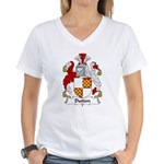 Dutton Family Crest Women's V-Neck T-Shirt