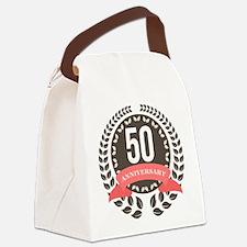 50 Years Anniversary Laurel Badge Canvas Lunch Bag