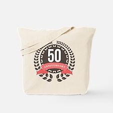 50 Years Anniversary Laurel Badge Tote Bag