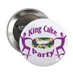 King Cake Party Button