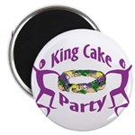King Cake Party Magnet