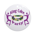King Cake Party Ornament (Round)