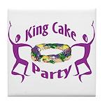 King Cake Party Tile Coaster