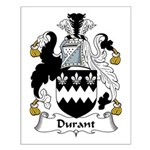 Durant Family Crest Small Poster
