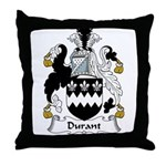 Durant Family Crest Throw Pillow