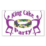 King Cake Party Rectangle Sticker