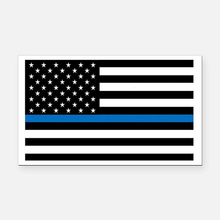Thin blue line flag Rectangle Car Magnet