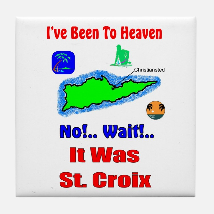 Cute St croix Tile Coaster