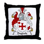 Dugdale Family Crest Throw Pillow