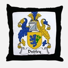 Dudley Family Crest Throw Pillow