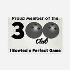 BOWLING.  300 CLUB.  I BOWLED A P Rectangle Magnet
