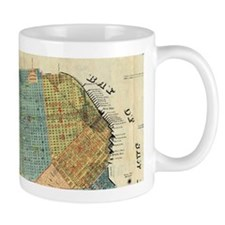 Vintage Map of San Francisco (1890) Mugs