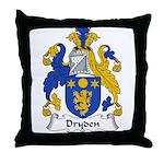 Dryden Family Crest Throw Pillow