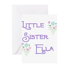 Little Sister Ella Greeting Cards (Pk of 10)