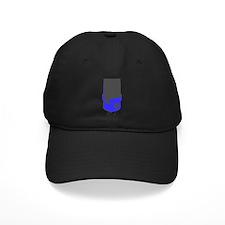 Vintage Microphone (Grey/Blue) Baseball Hat