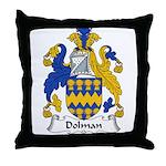 Dolman Family Crest Throw Pillow