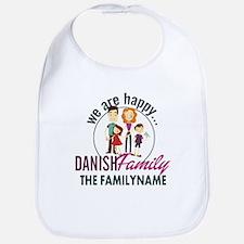 Personalized Happy Danish Family Bib