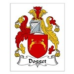 Dogget Family Crest Small Poster