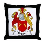 Dogget Family Crest Throw Pillow
