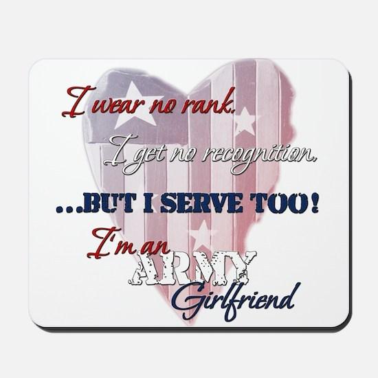Army Girlfriend Mousepad