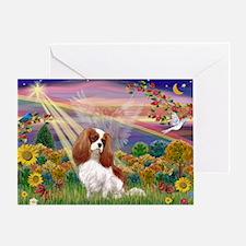 Autumn Angel & Blenheim Greeting Card